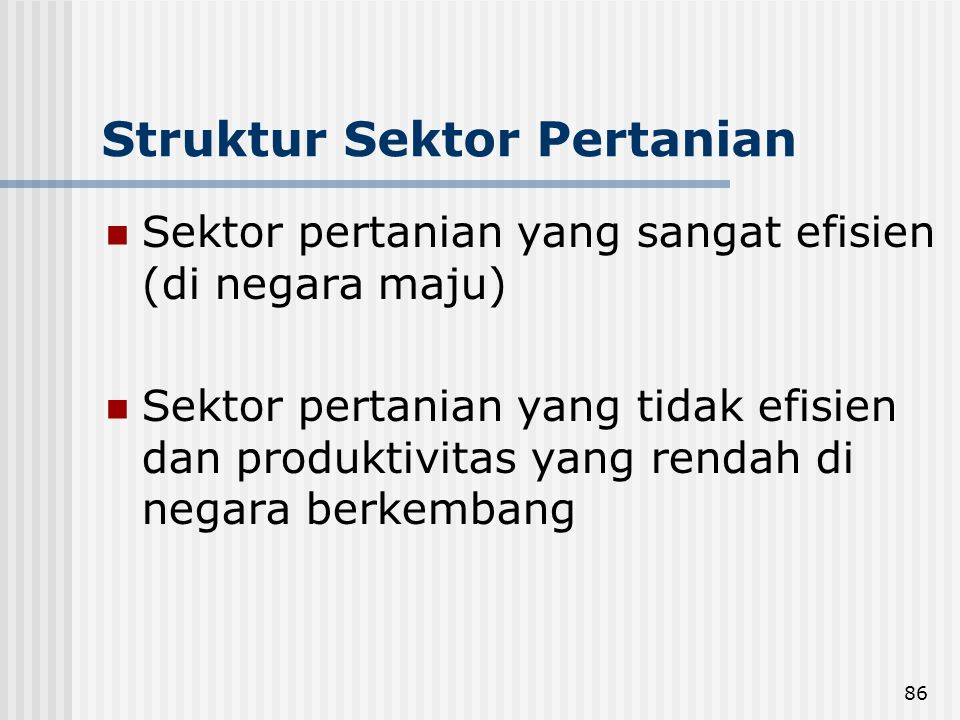 Struktur Sektor Pertanian