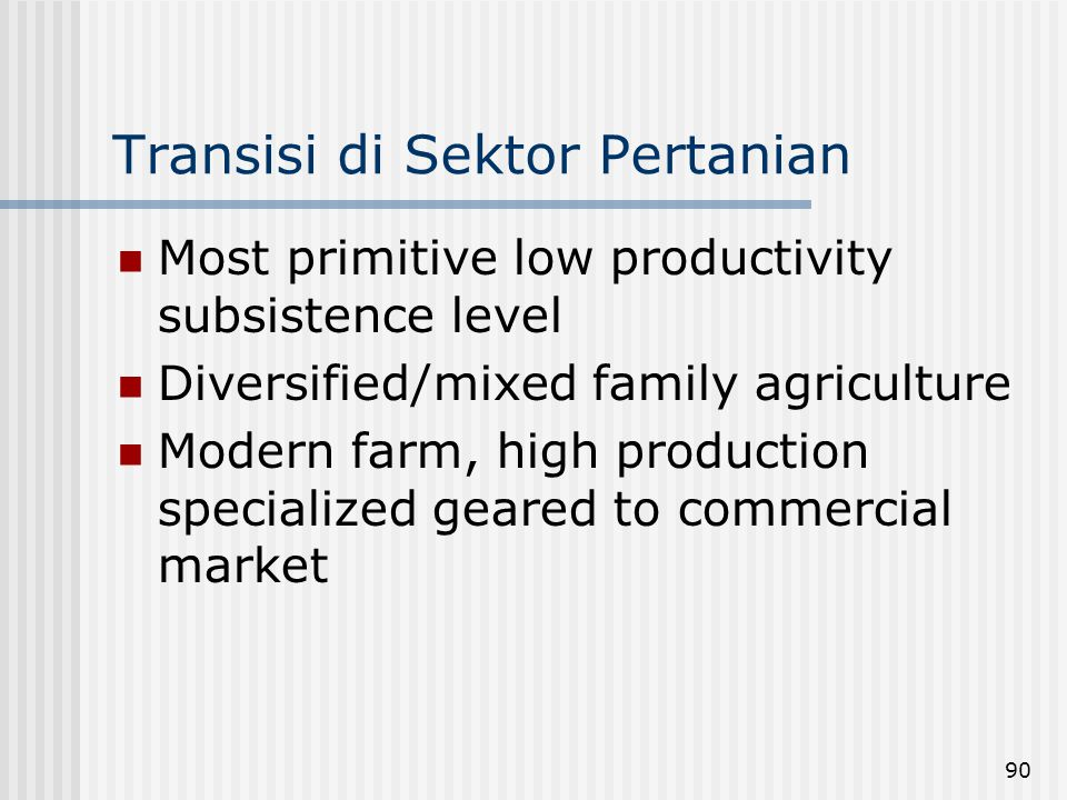 Transisi di Sektor Pertanian