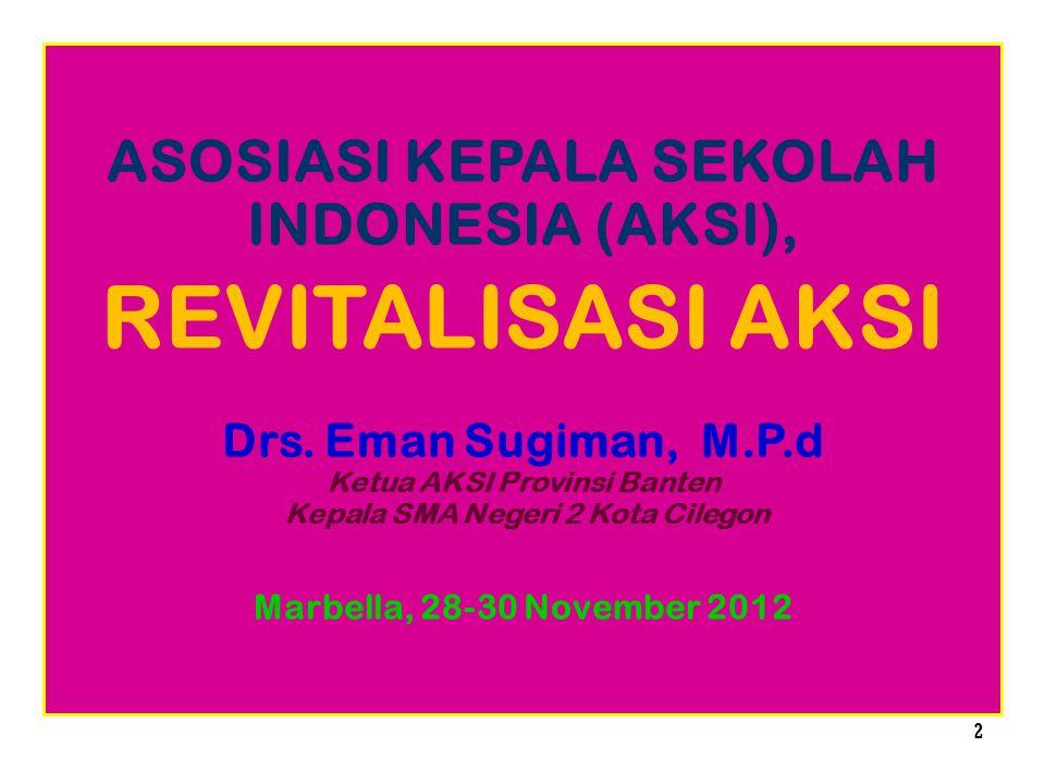 REVITALISASI AKSI ASOSIASI KEPALA SEKOLAH INDONESIA (AKSI),