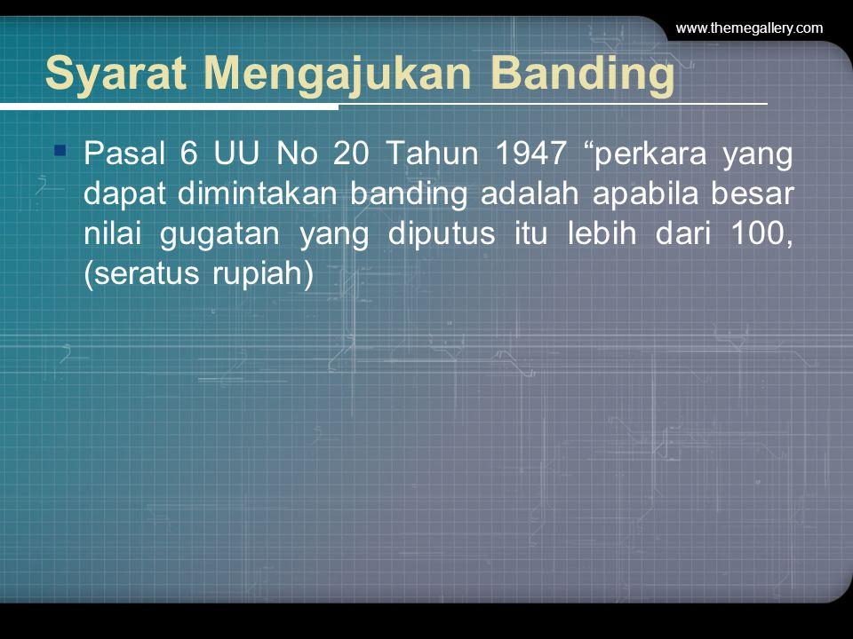 Syarat Mengajukan Banding