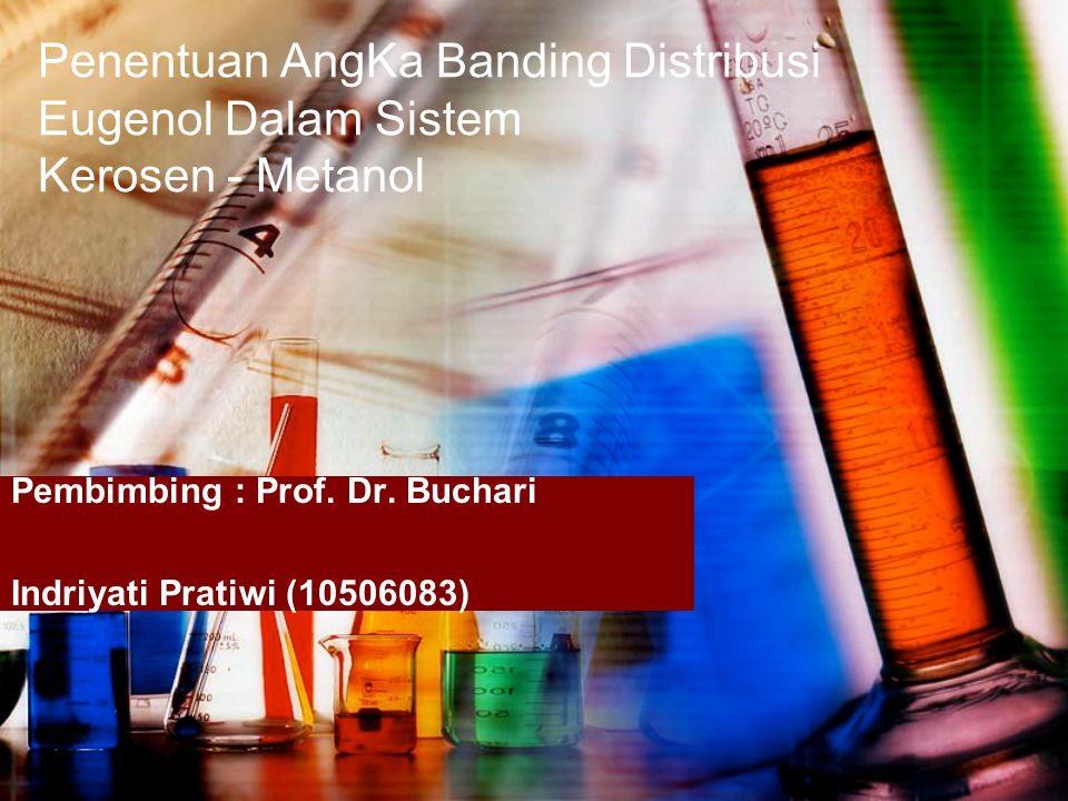 Pembimbing : Prof. Dr. Buchari Indriyati Pratiwi (10506083)