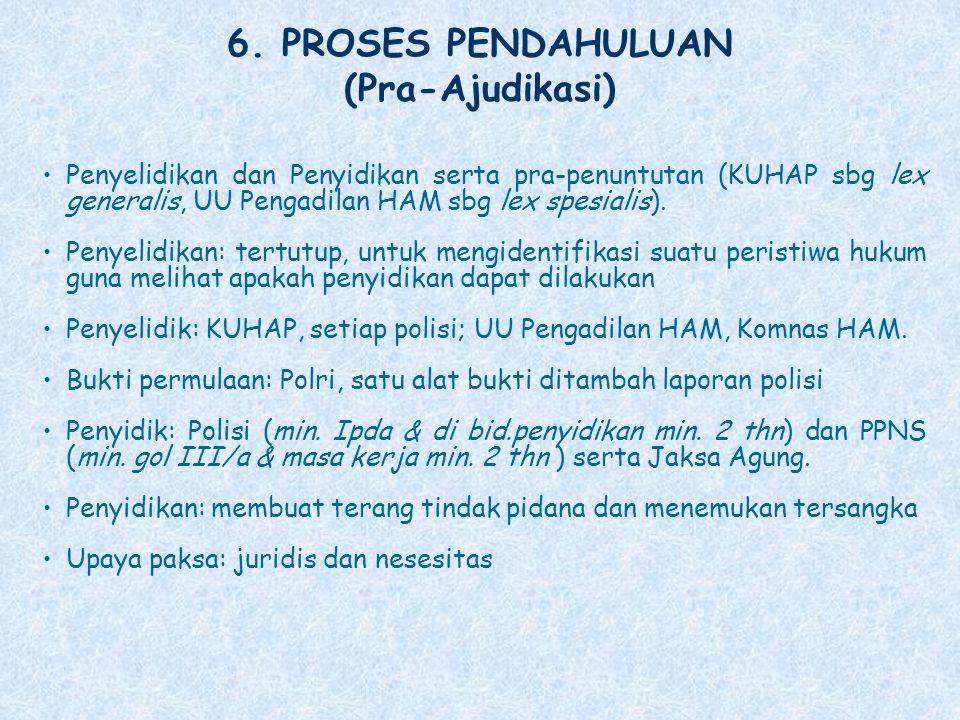 6. PROSES PENDAHULUAN (Pra-Ajudikasi)