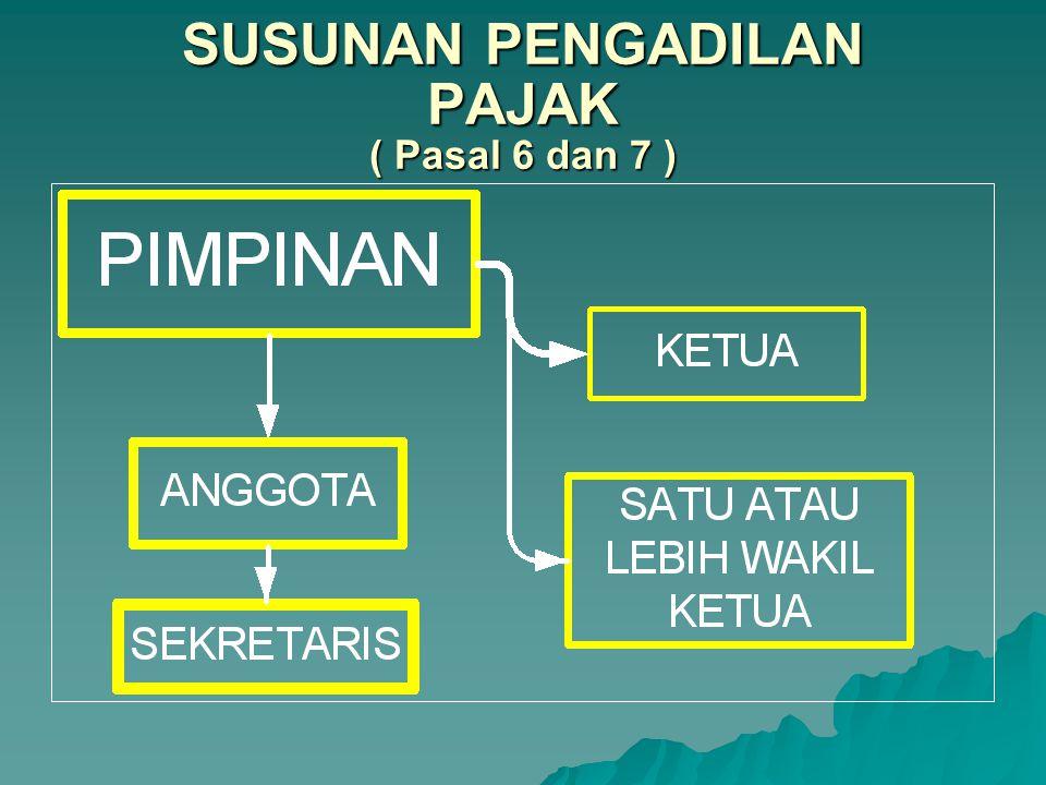 SUSUNAN PENGADILAN PAJAK ( Pasal 6 dan 7 )