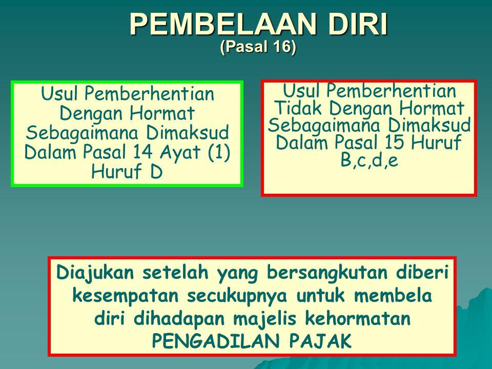 PEMBELAAN DIRI (Pasal 16)