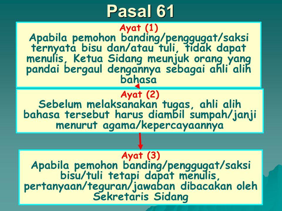 Pasal 61 Ayat (1)