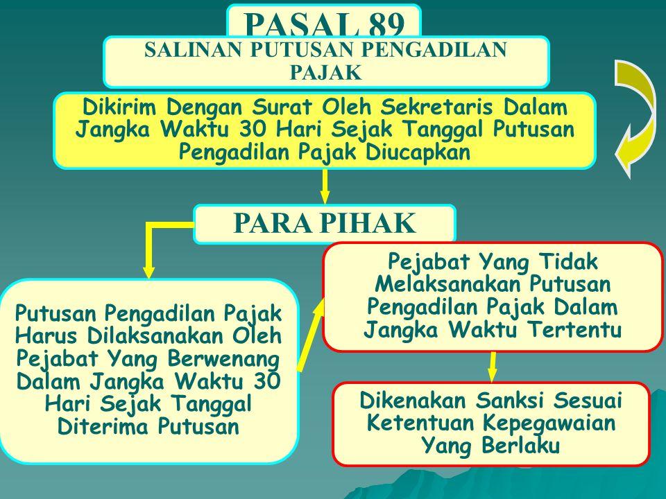 PASAL 89 PARA PIHAK SALINAN PUTUSAN PENGADILAN PAJAK