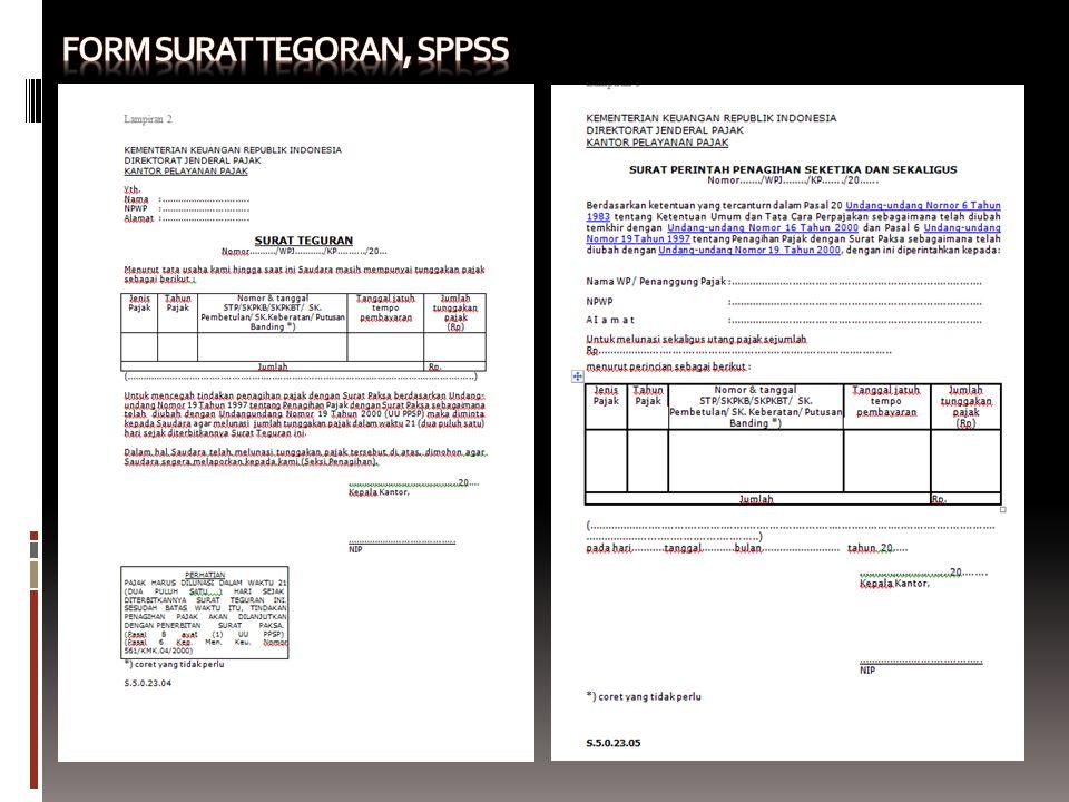 Form Surat tegoran, SPPSS