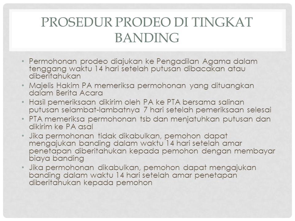 Prosedur Prodeo di TINGKAT BANDING