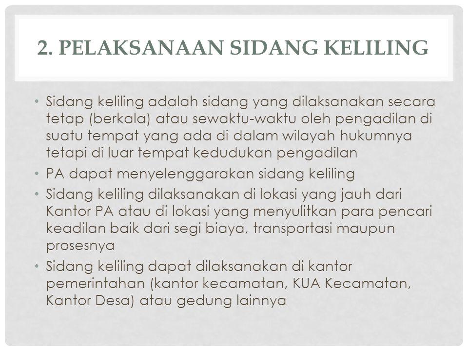 2. PELAKSANAAN SIDANG KELILING