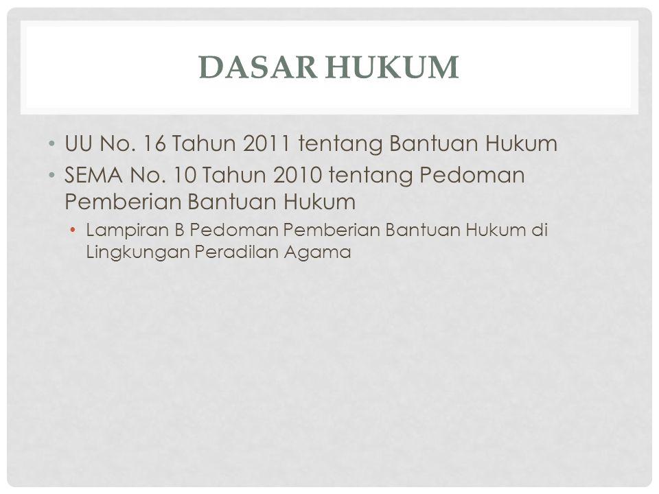 DASAR HUKUM UU No. 16 Tahun 2011 tentang Bantuan Hukum