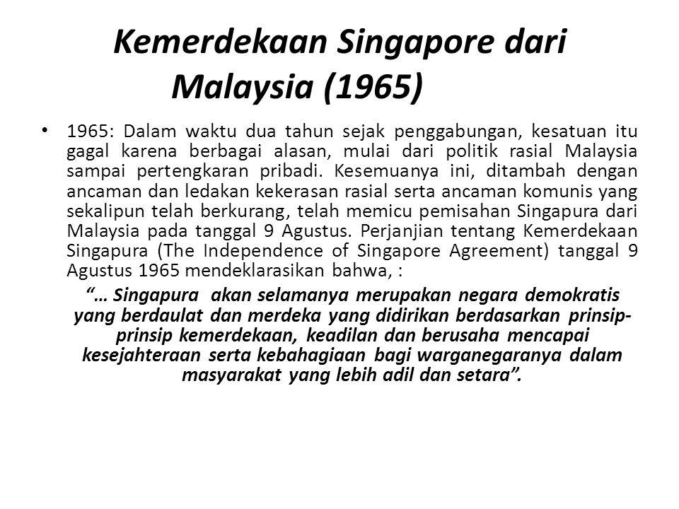 Kemerdekaan Singapore dari Malaysia (1965)