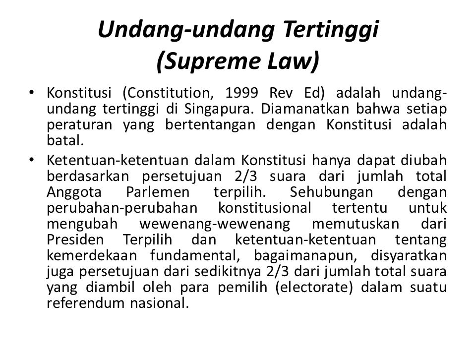 Undang-undang Tertinggi (Supreme Law)