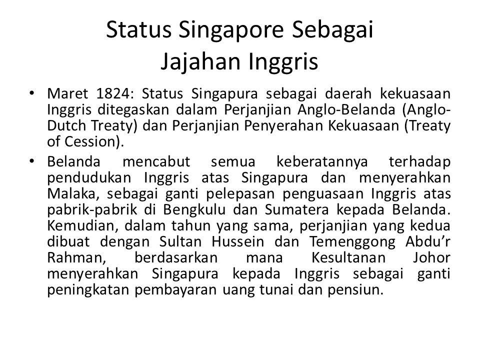 Status Singapore Sebagai Jajahan Inggris