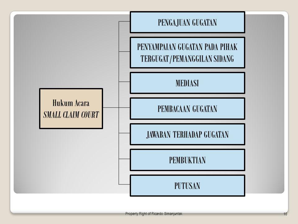 PENYAMPAIAN GUGATAN PADA PIHAK TERGUGAT/PEMANGGILAN SIDANG
