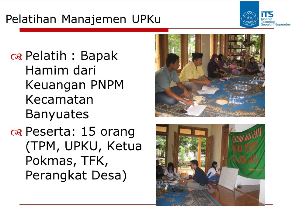 Pelatihan Manajemen UPKu