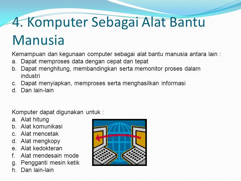 4. Komputer Sebagai Alat Bantu Manusia
