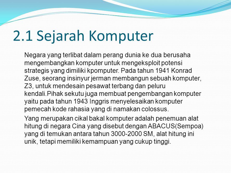 2.1 Sejarah Komputer
