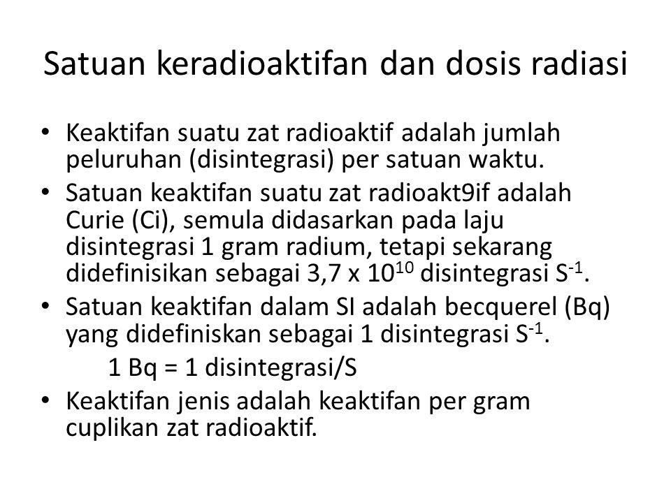 Satuan keradioaktifan dan dosis radiasi