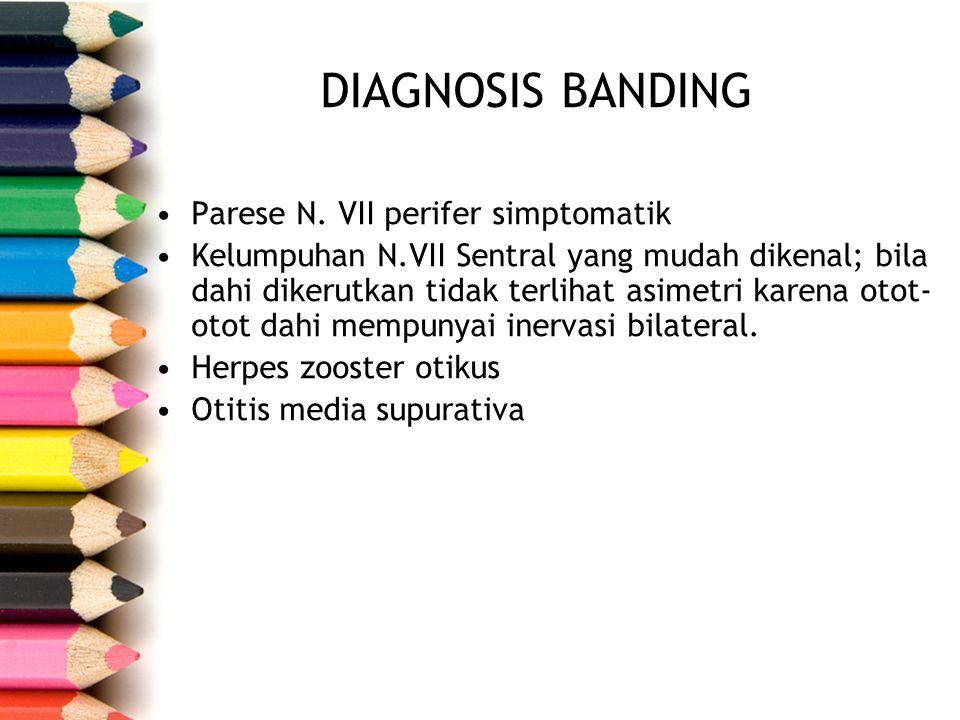 Diagnosis Banding Parese N. VII perifer simptomatik