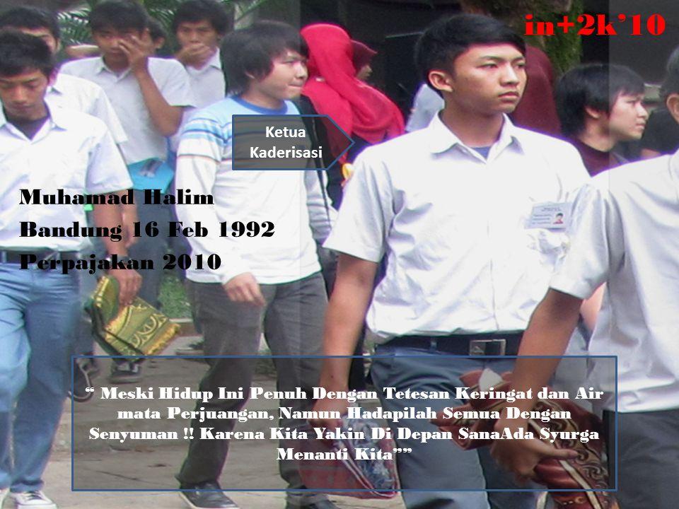 in+2k'10 Muhamad Halim Bandung 16 Feb 1992 Perpajakan 2010 Ketua