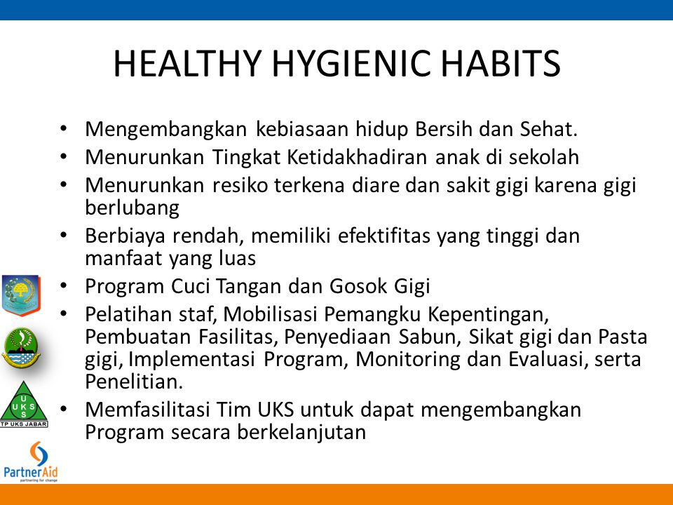 HEALTHY HYGIENIC HABITS