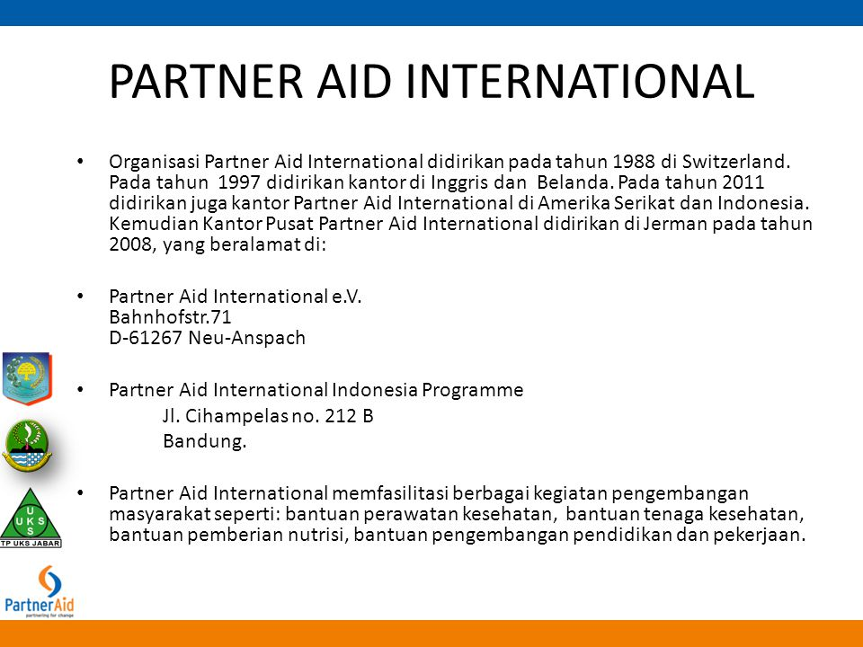PARTNER AID INTERNATIONAL