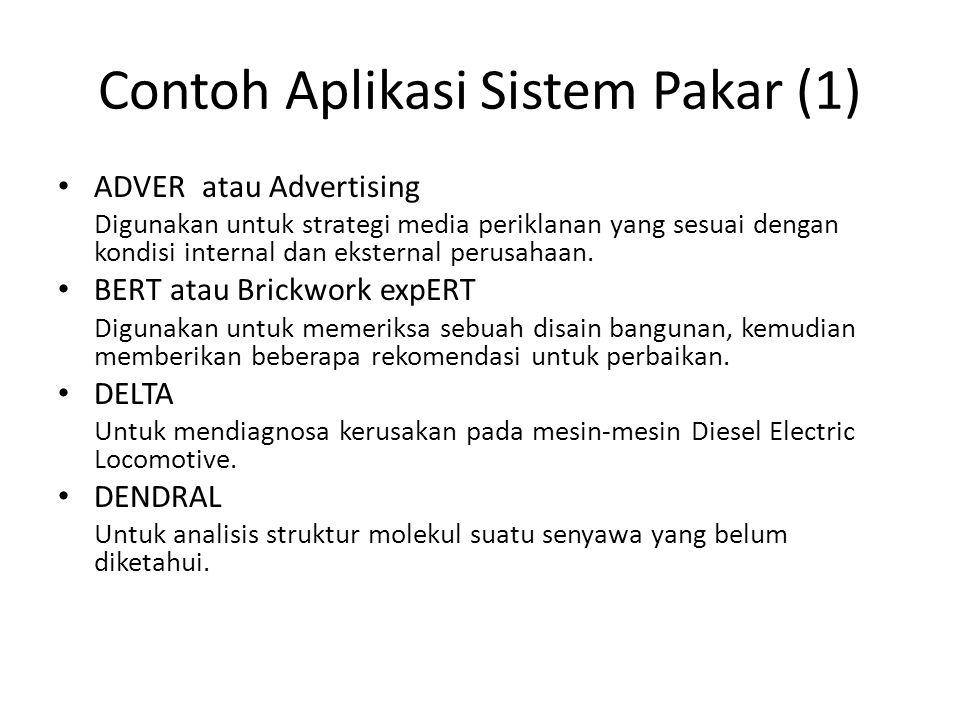 Contoh Aplikasi Sistem Pakar (1)