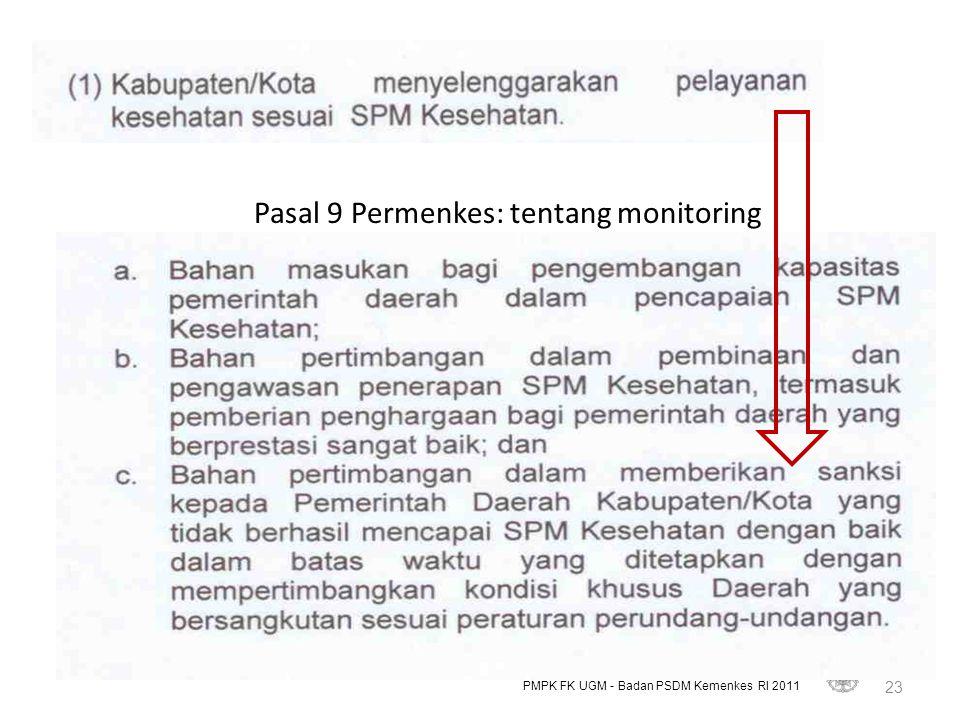 Pasal 9 Permenkes: tentang monitoring