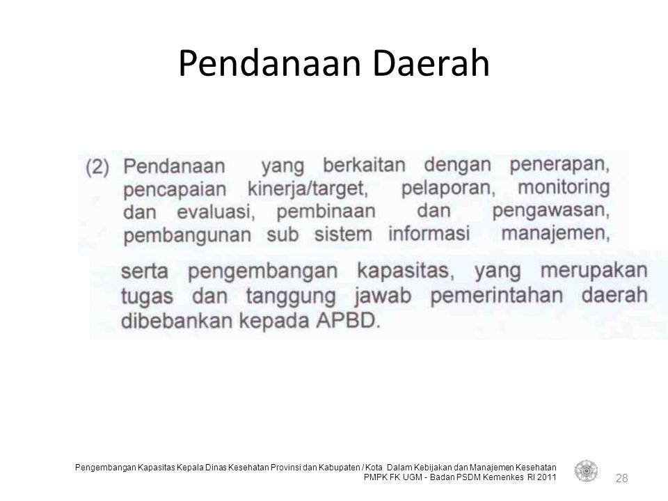 Pendanaan Daerah