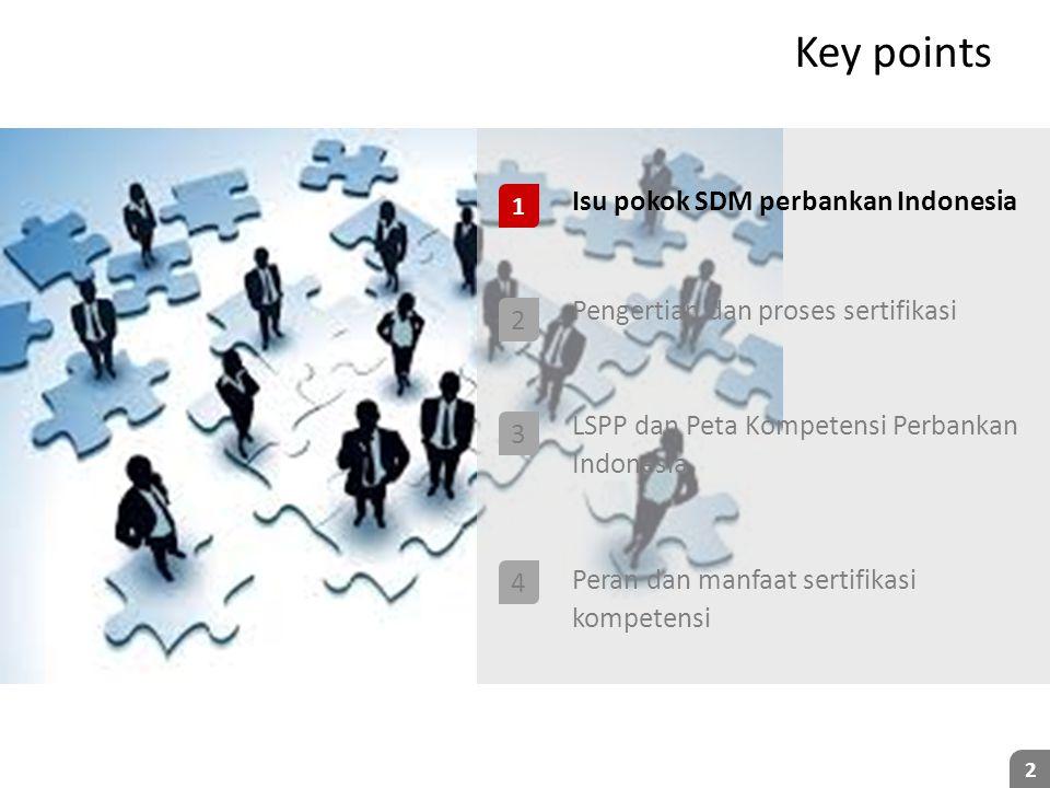 Key points Isu pokok SDM perbankan Indonesia