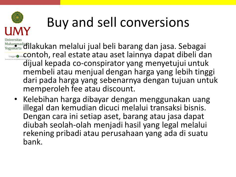 Buy and sell conversions