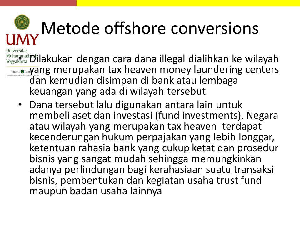 Metode offshore conversions