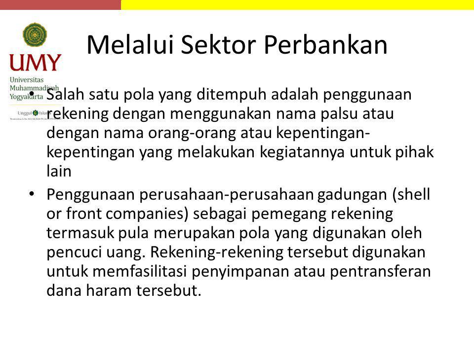 Melalui Sektor Perbankan