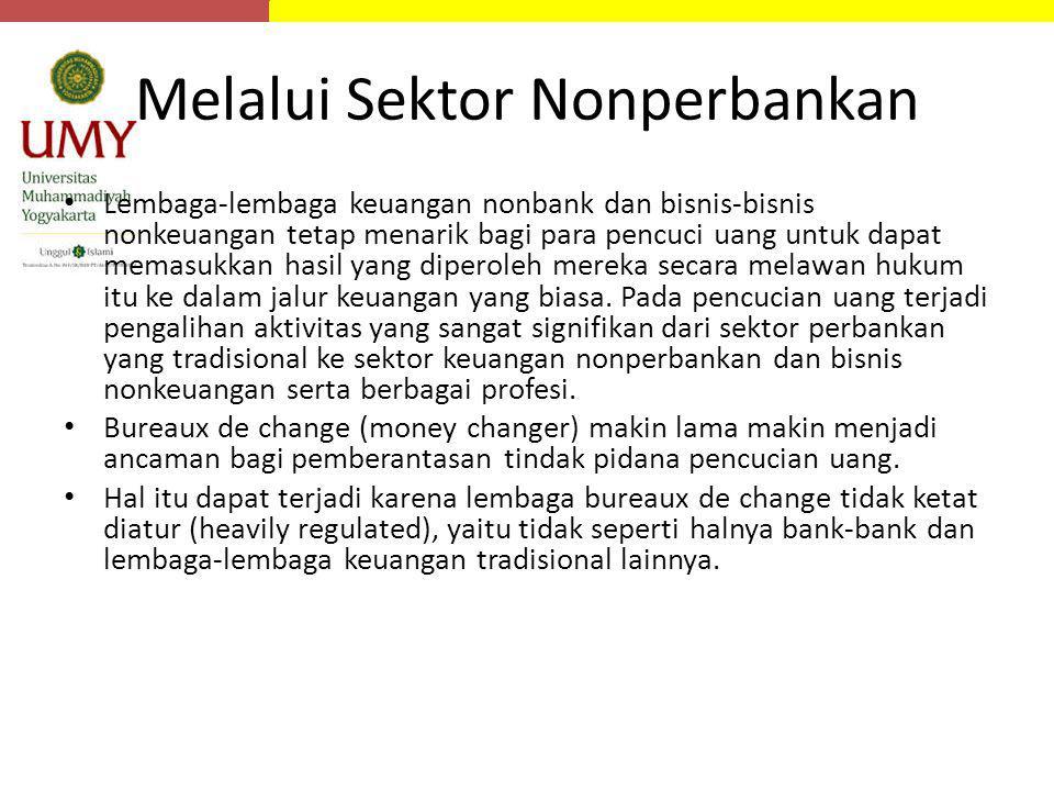 Melalui Sektor Nonperbankan