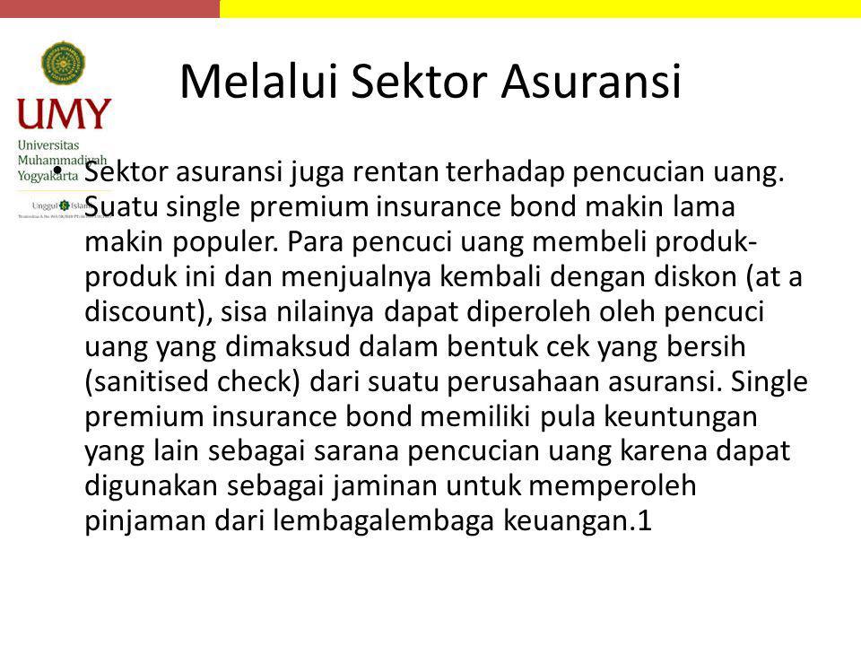 Melalui Sektor Asuransi