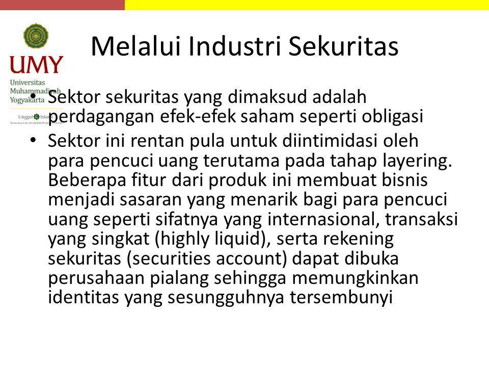 Melalui Industri Sekuritas