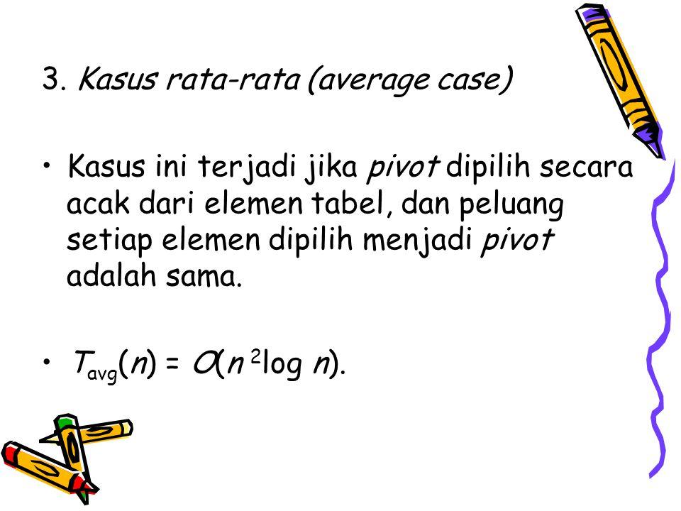 3. Kasus rata-rata (average case)