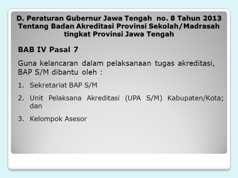 D. Peraturan Gubernur Jawa Tengah no