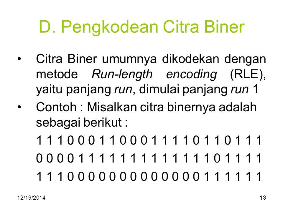 D. Pengkodean Citra Biner