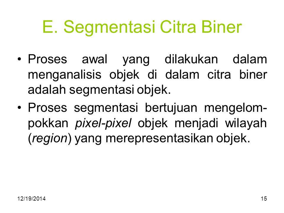 E. Segmentasi Citra Biner