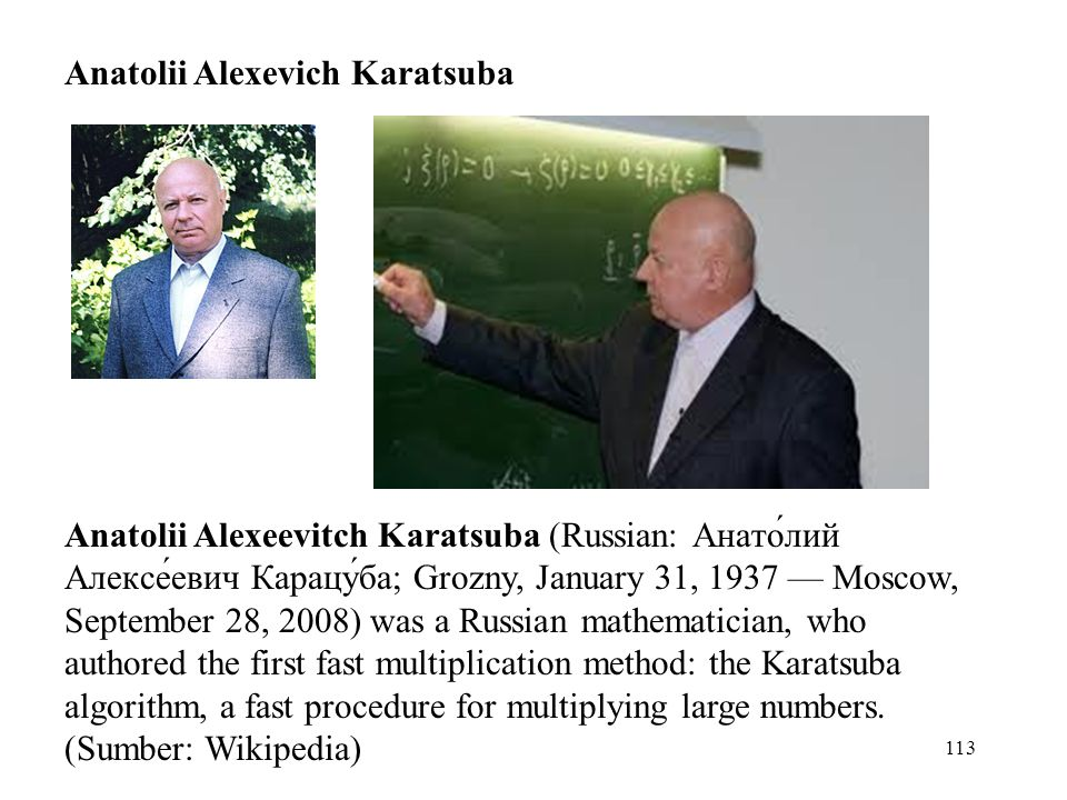 Anatolii Alexevich Karatsuba