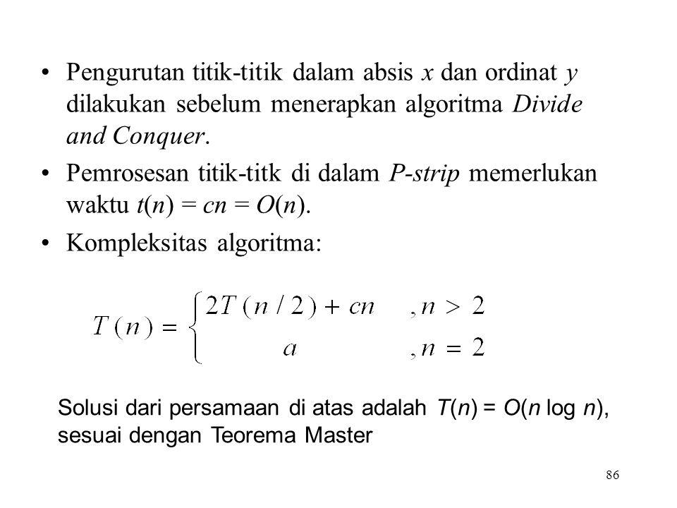 Kompleksitas algoritma: