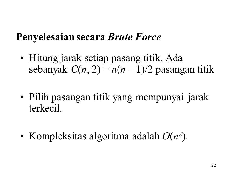Penyelesaian secara Brute Force