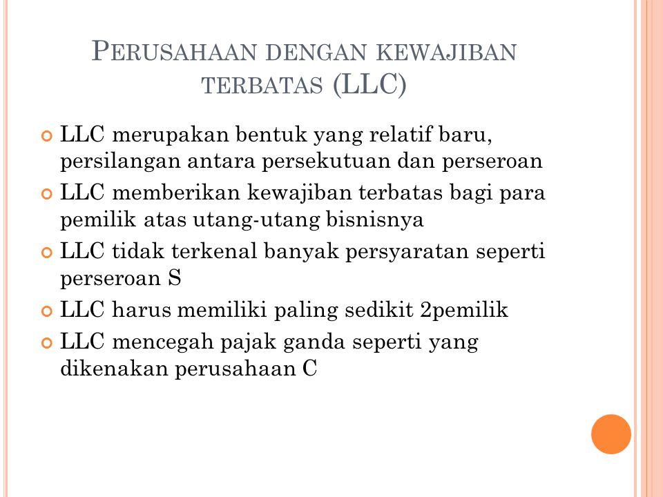 Perusahaan dengan kewajiban terbatas (LLC)
