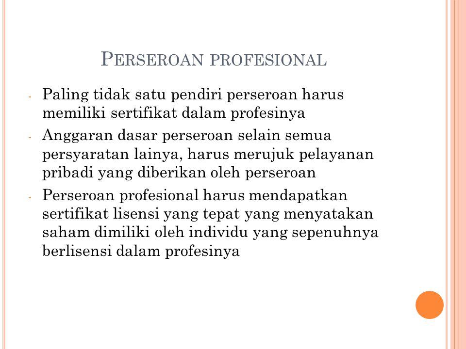 Perseroan profesional