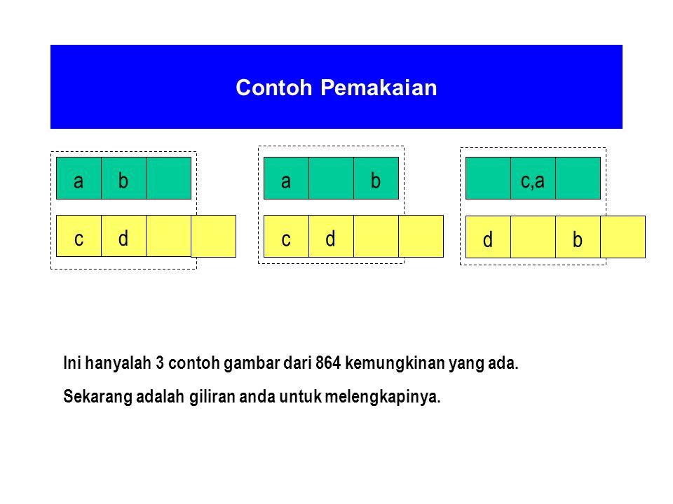 Contoh Pemakaian a b a b c,a c d c d d b