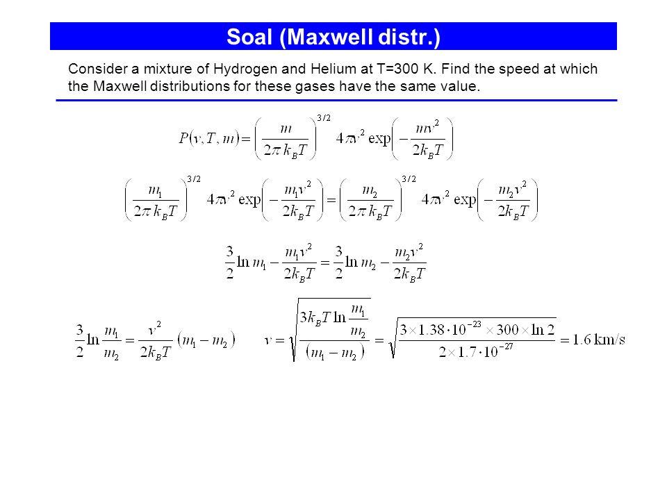Soal (Maxwell distr.)