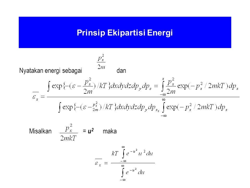Prinsip Ekipartisi Energi