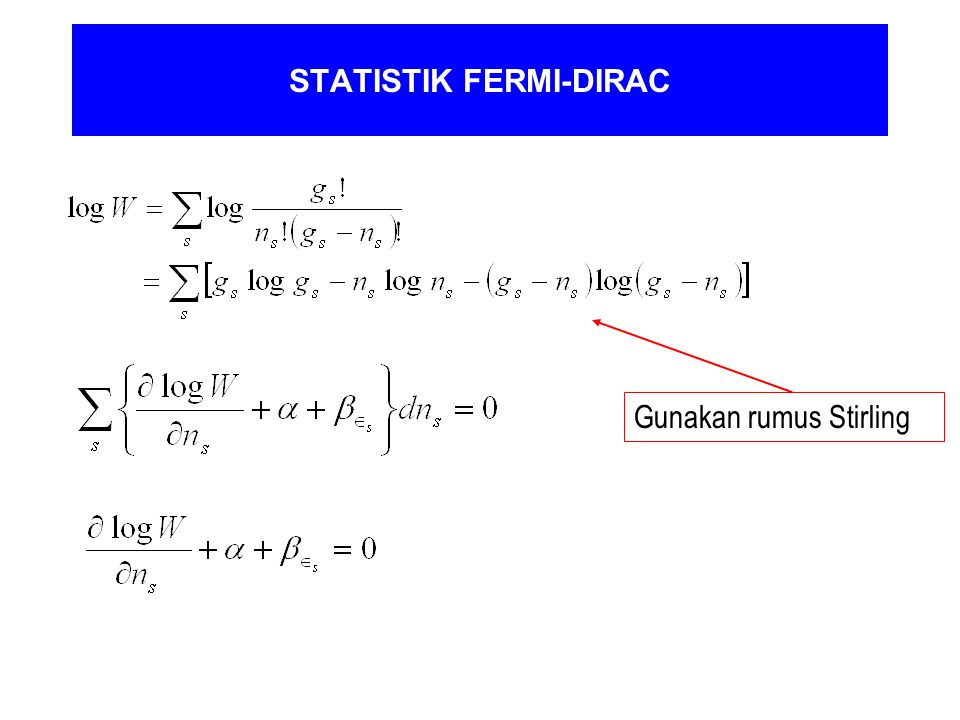 STATISTIK FERMI-DIRAC