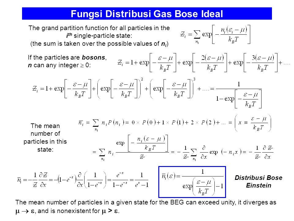 Fungsi Distribusi Gas Bose Ideal